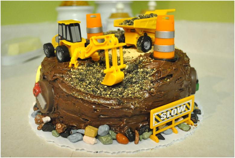 Construction Themed Birthday Cake Rolling SinSweets After Dark