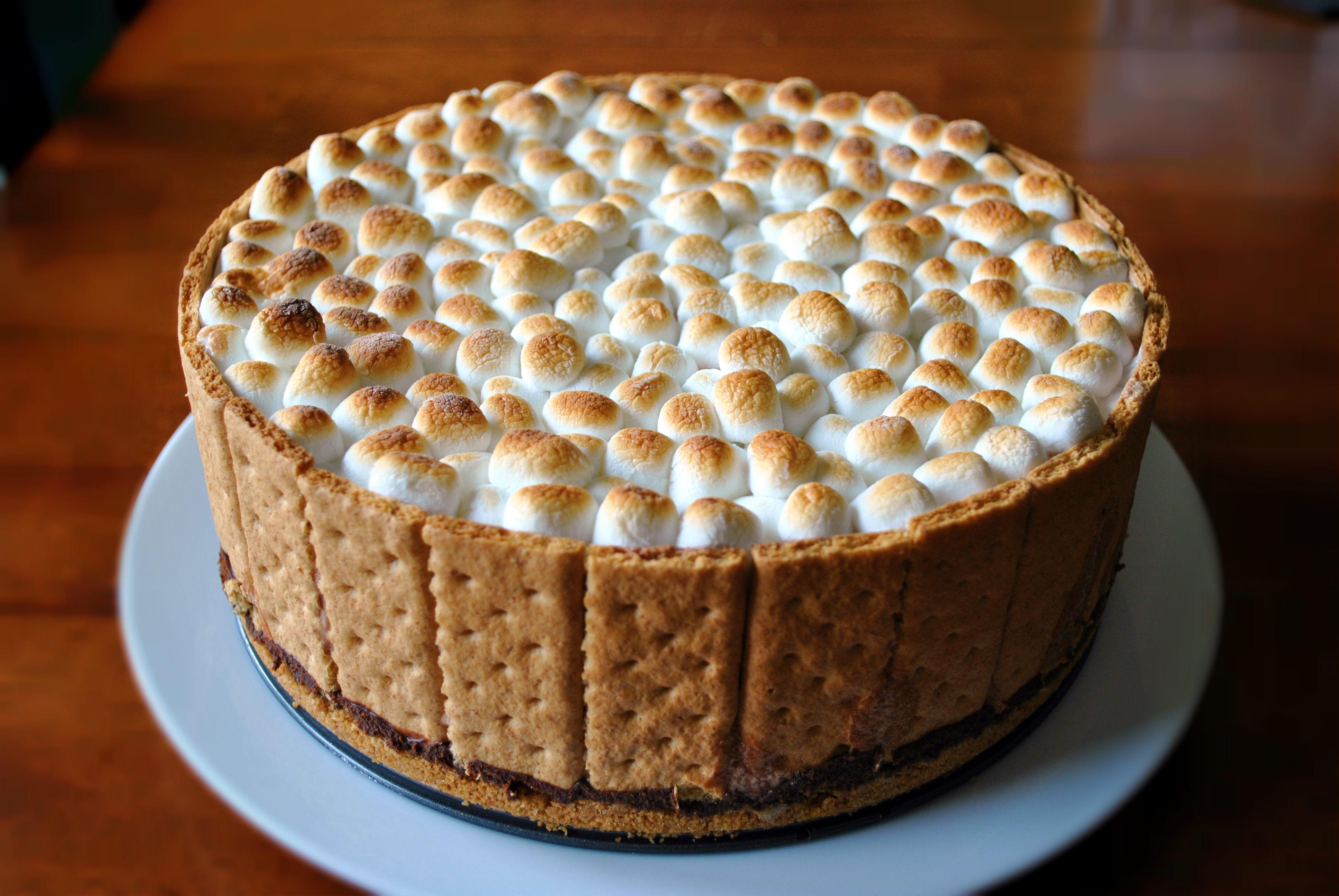 S Mores Ice Cream Cake