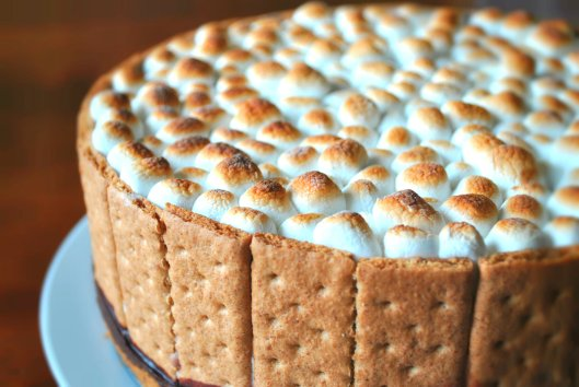 S'mores ice cream cake
