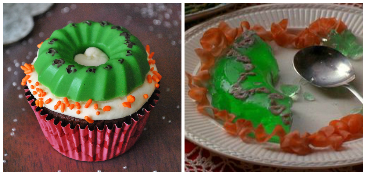 Christmas Vacation Movie Party Ideas Part - 23: Jello Mold Cupcakes